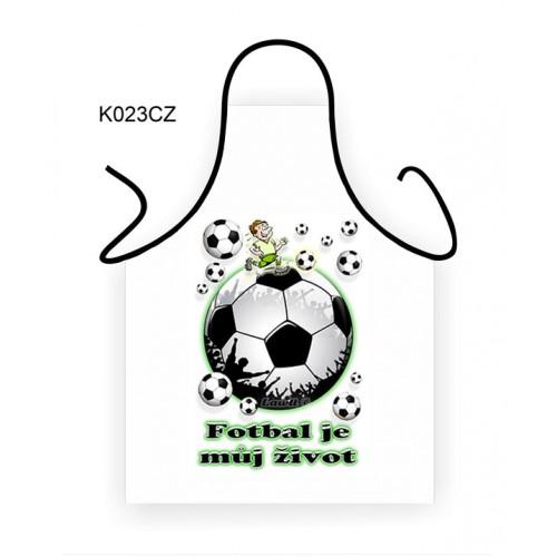 Zástěra - Fotbal je můj život (K023CZ) na lawli.cz