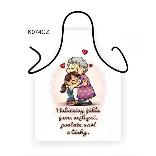 Zástěra - Babiččiny jídla jsou nejlepší,... (K074CZ) na lawli.cz